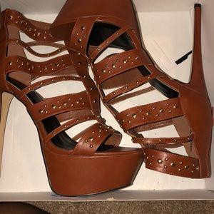 Imani Cognac Heels